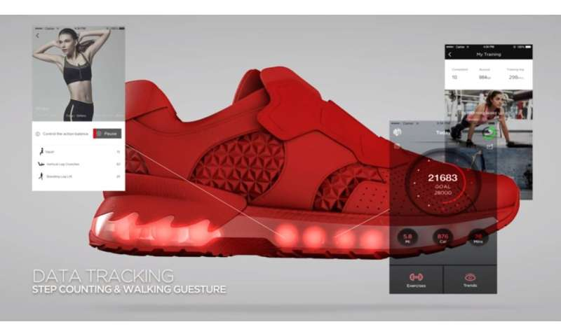 Lenovo shows off smart shoe prototype, counts, steps to games