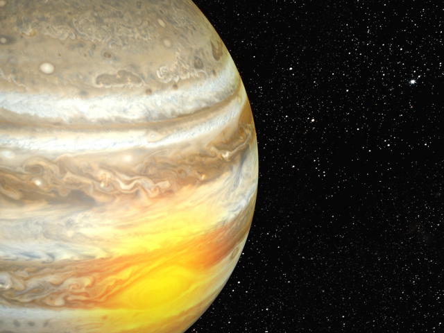 Jupiter's great red spot heats planet's upper atmosphere
