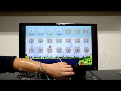 Gaming using a stretchy touchpad (w/ Video)
