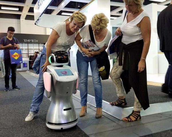 Humanoid service robot is showcased in Berlin