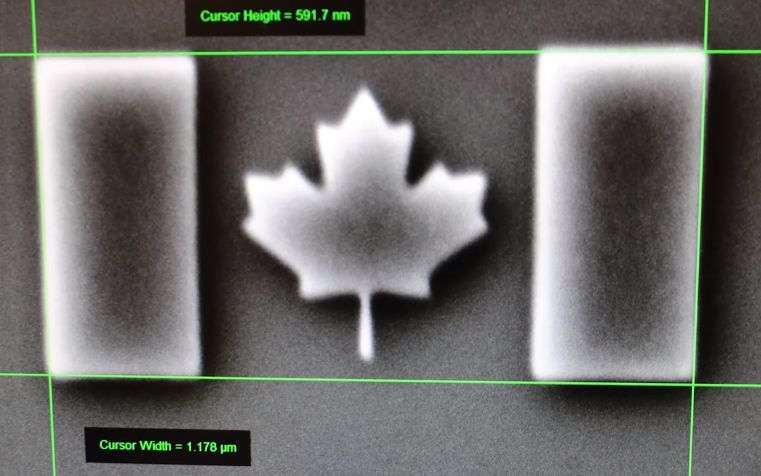 Nano Scale Canadian Flag Sets World Record In Lead Up To Nation S