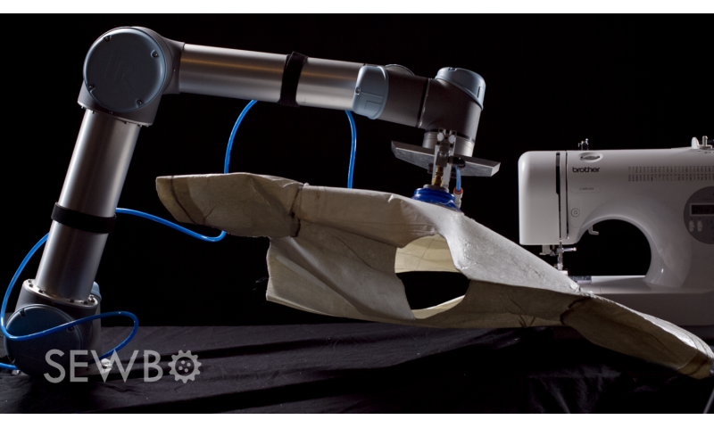 Sewbo robot can sew a t-shirt thanks to stiffened fabric