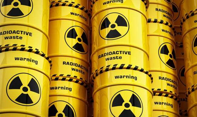 What does nuclear waste look like