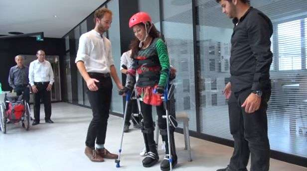Exoskeleton gets disabled people back on their feet