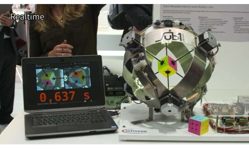 Infineon chip has its day in the sun with Rubik's Cube solved in 0.637