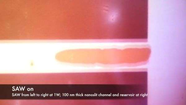 Researchers use acoustic waves to move fluids at the nanoscale