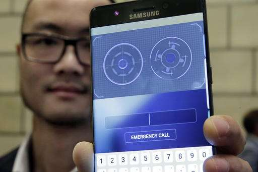 Samsung's new jumbo phone unlocks with iris scanner