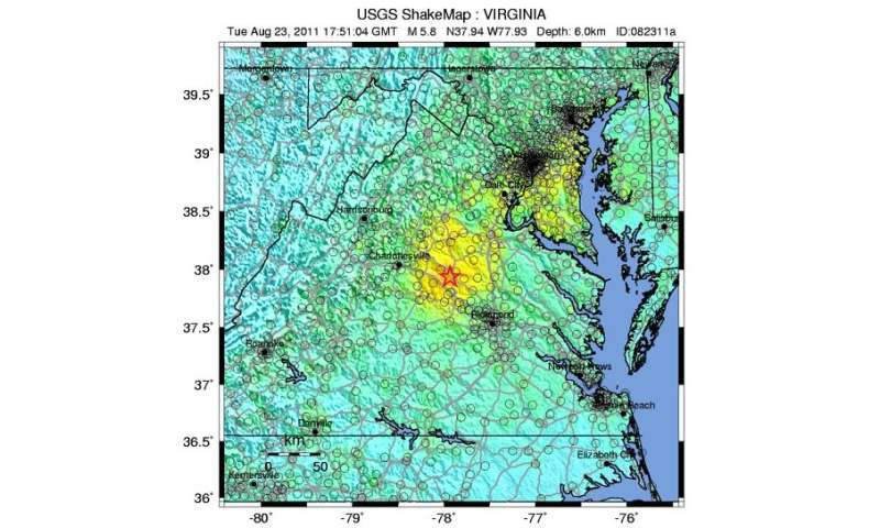 Find Likely Cause For Recent Southeast US Earthquakes - Map of southeast us