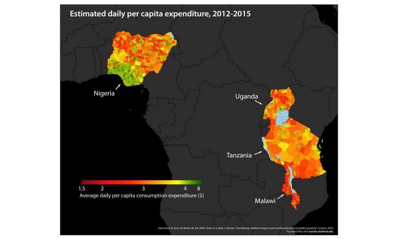 Stanford scientists combine satellite data and machine learning to map poverty