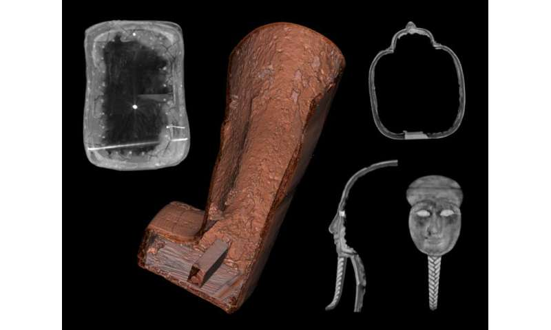Using medical imaging techniques for noninvasive probing of Egyptian artefacts