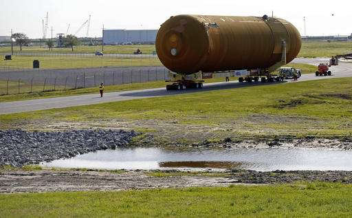 Last surviving space shuttle external tank on way to L.A.
