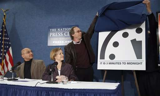 """Scientists: """"Doomsday Clock"""" reflects grave threat to world"""