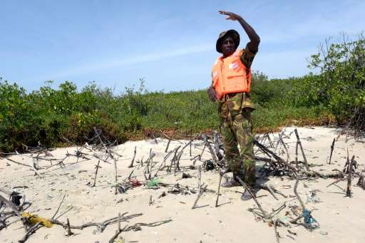 Abdoulaye Sagna, a manager of the Protected Marine Area (AMP) of Joal in western Senegal