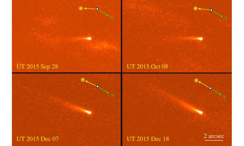 Active asteroid 324P/La Sagra observed by Hubble