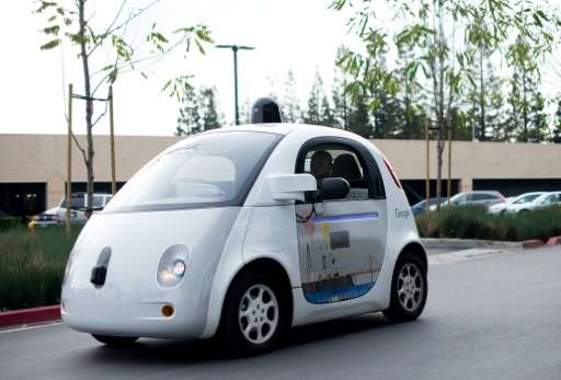 A Google self-driving car manoeuvred around some sandbags and was hit at low speed by a bus in Mountain View, California in Febr