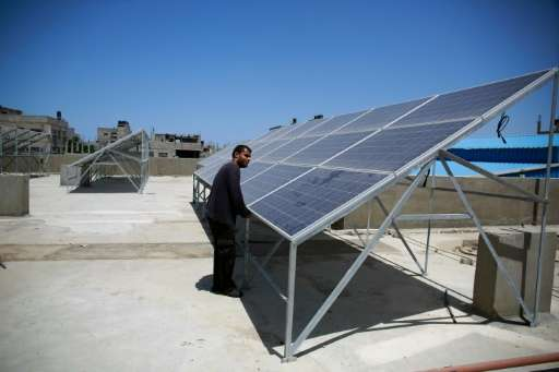 A growing number of Gazans fed up with their erratic electricity supply are turning to solar power in an area where the sun shin