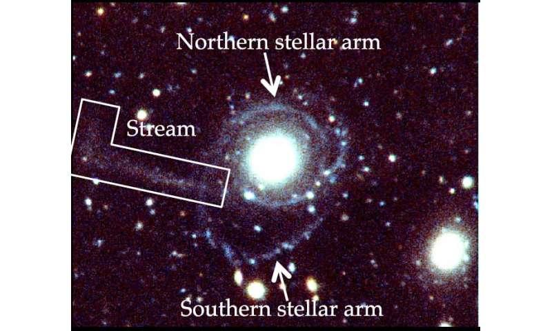 A hydrogen-rich, passive galaxy