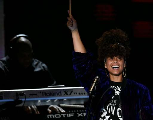 Alicia Keys is one of the coaches on singing competition show 'The Voice'