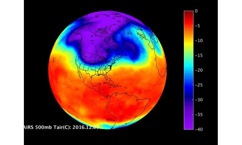 A look at the US cold snap from NASA infrared imagery