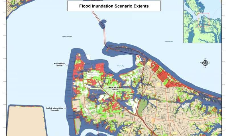Analysis method for cities to become resilient to rising sea levels