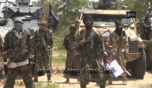 A screengrab taken on July 13, 2014 from a video released by the Nigerian Islamist extremist group Boko Haram and obtained by AF