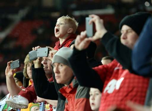 At least 70 per cent of football fans use their smartphone while in a stadium watching a game, according to a data and analytics