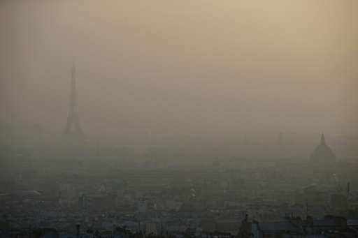 Average PM10 particulate levels have fallin in 75% of EU locations monitored