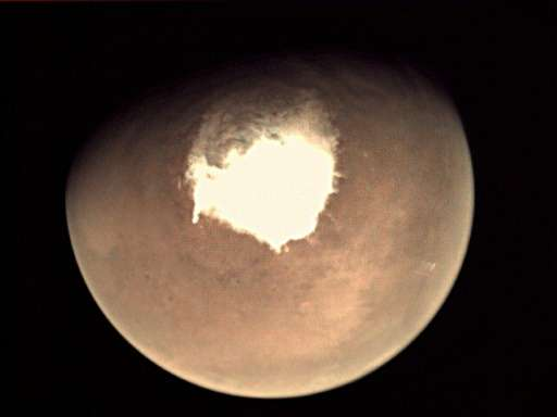 A view of Mars from the webcam on ESA's Mars Express orbiter in October