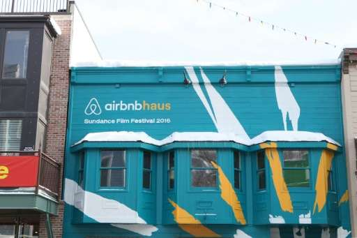 """A view of the Airbnb Haus on January 24, 2016 in Park City, Utah, Airbnb co-founder Joe Gebbia says """"hospitality has been a"""
