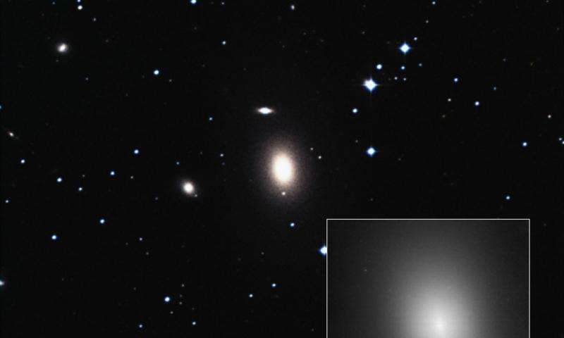 Behemoth black hole found in an unlikely place