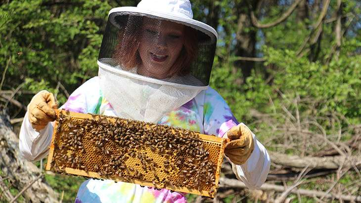 Berks' bees and pollen variation subject of student's independent study