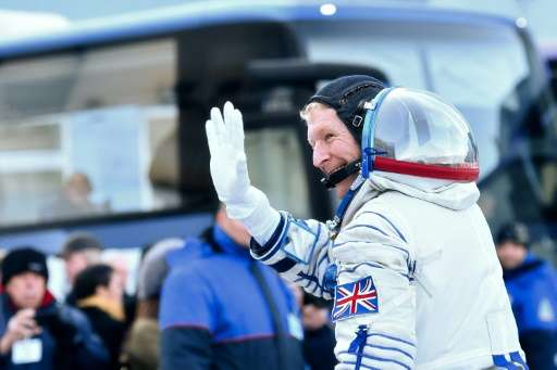 Britain's astronaut Tim Peake, pictured on December 15, 2015, will embark on his first spacewalk on January 15, 2016