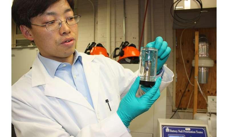 Built in sensors make lithium-ion batteries safer
