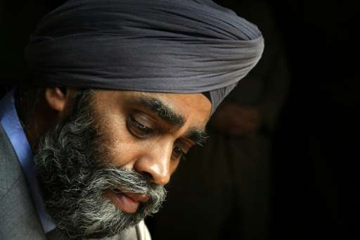 Canadian Minister of National Defence Harjit Sajjan, seen on December 21, 2015, said the illegally collected information did not