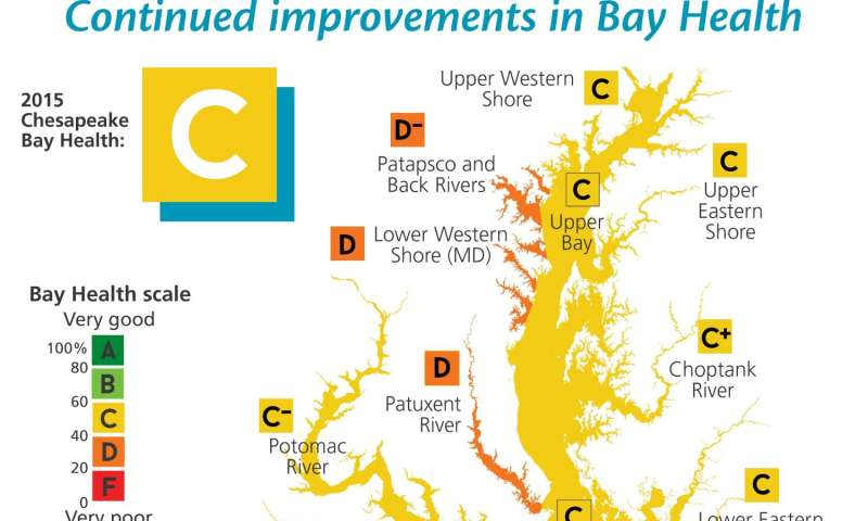 Chesapeake Bay health improves in 2015