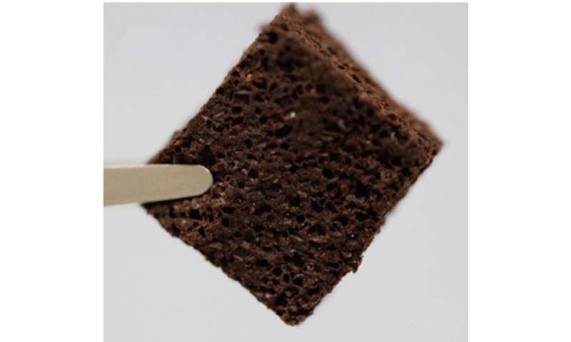 Coffee-infused foam removes lead from contaminated water