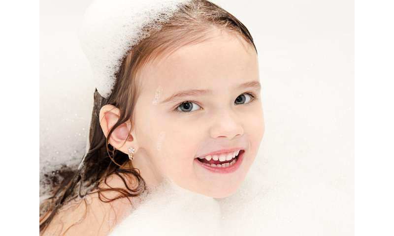 Daily baths not a must for kids