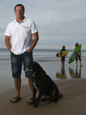 Dave Pearson was attacked by a three metre Bull Shark in 2011 which tore down to the bone on his left arm and smashed his skull