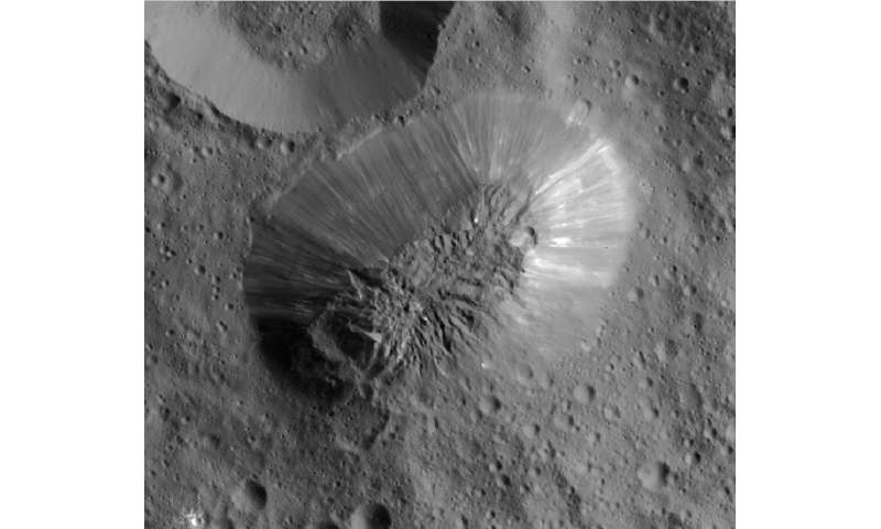 Dawn spacecraft at Ceres: Craters, cracks, and cryovolcanos