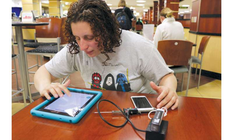 Digital caliper levels playing field for blind pre-med student