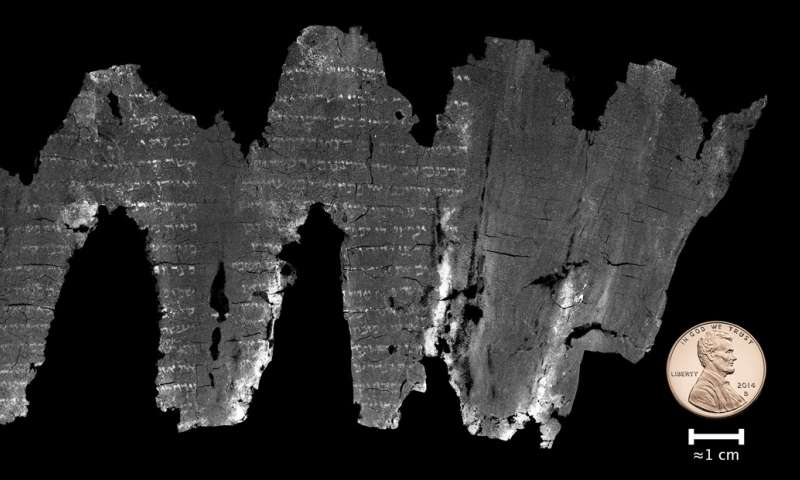 Digitally unwrapped scroll reveals earliest Old Testament scripture