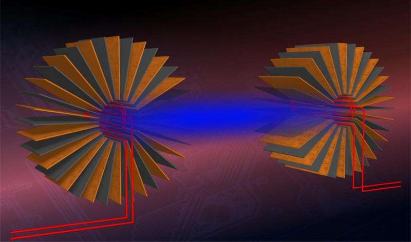 Distance wireless charging enhanced by magnetic metamaterials