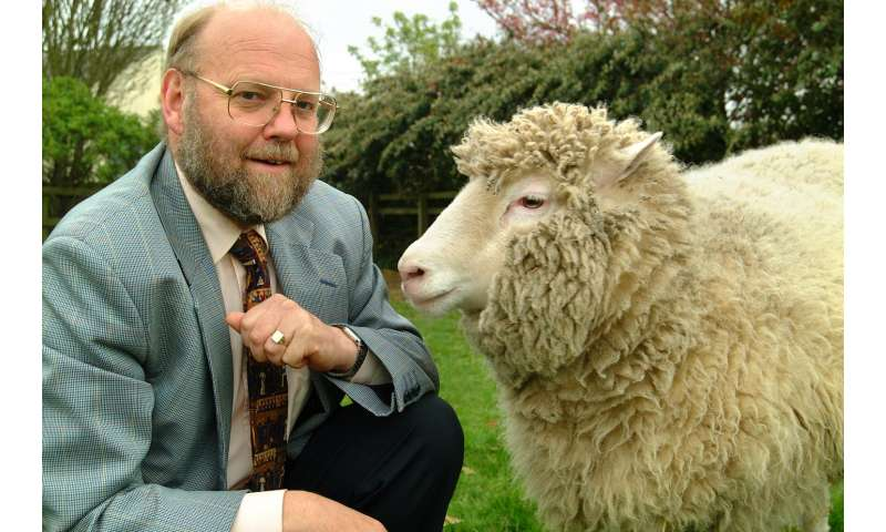 Dolly the Sheep with Professor Ian Wilmut