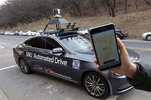 Driverless taxi on Seoul campus offers glimpse of future