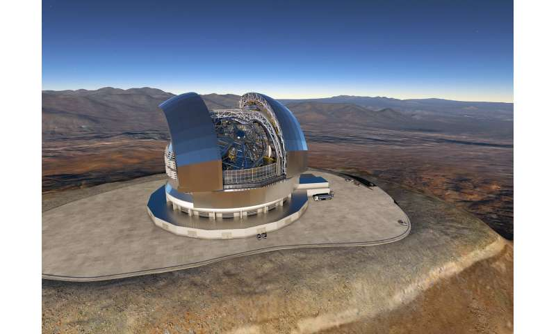 ESO signs largest ever ground-based astronomy contract for E-ELT dome and structure
