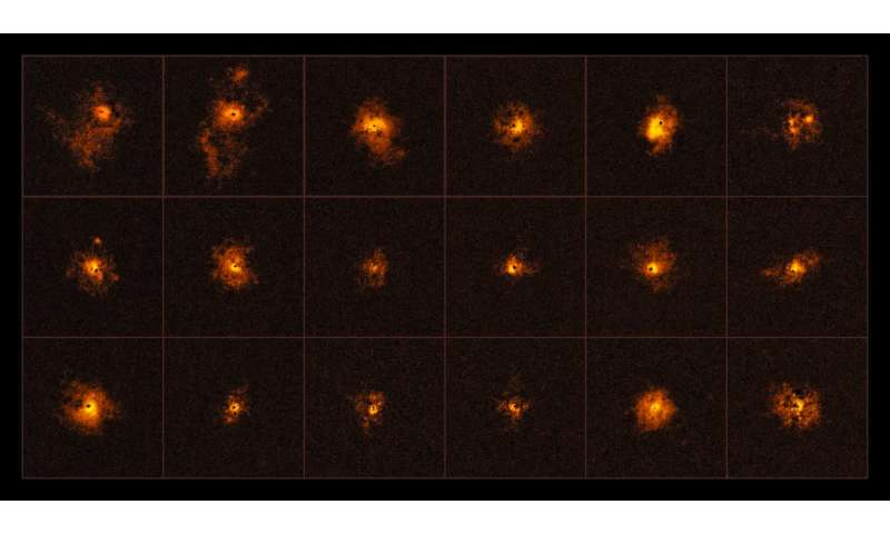 ESO's VLT detects unexpected giant glowing halos around distant quasars