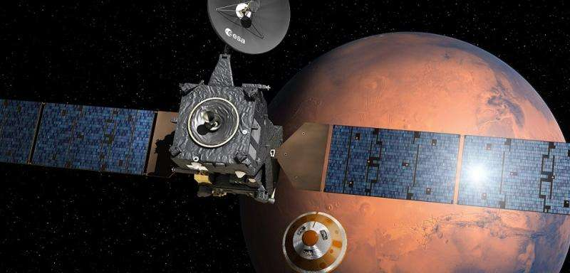 Europe's ExoMars mission arrives in the middle of dust season