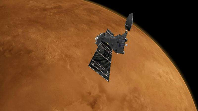 ExoMars prepares to dip into the Mars atmosphere to reach its final orbit