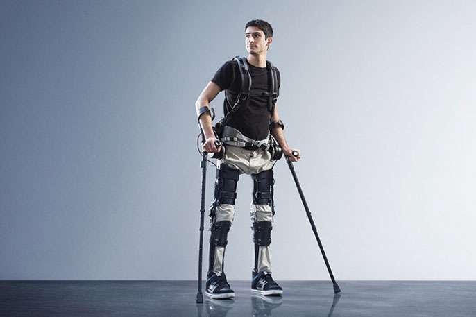 Exoskeleton helps the paralyzed to walk