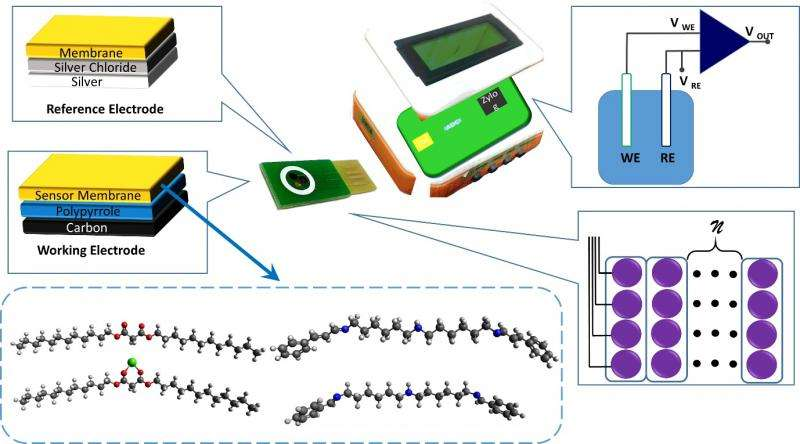 Exploiting non-selective polymeric membrane for determination of ionic mixtures